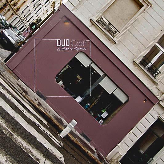 Design d 39 espace et graphique d 39 un salon de coiffure for Devanture salon de coiffure