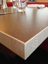 Table texture fibre bronze paille