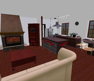 Agencement int rieur architecturale 3d pour une maison for Separer la cuisine du salon